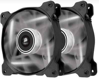 Corsair PC case fan AF120 Quiet Edition LED White,120mm, 3pin, Twin Pack