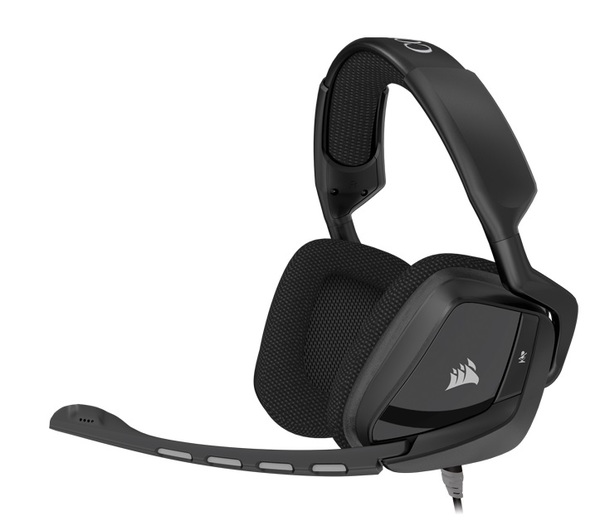 Corsair VOID Surround Hybrid Stereo Gaming Headset with Dolby 7.1 USB Adapter - Carbon (EU)