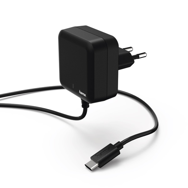 HAMA Charger USB Type-C power delivery PD 3A black