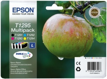 Epson Multipack 4-colours T1295 DURABrite Ultra Ink Cartridge, Black, Cyan, Magenta, Yellow