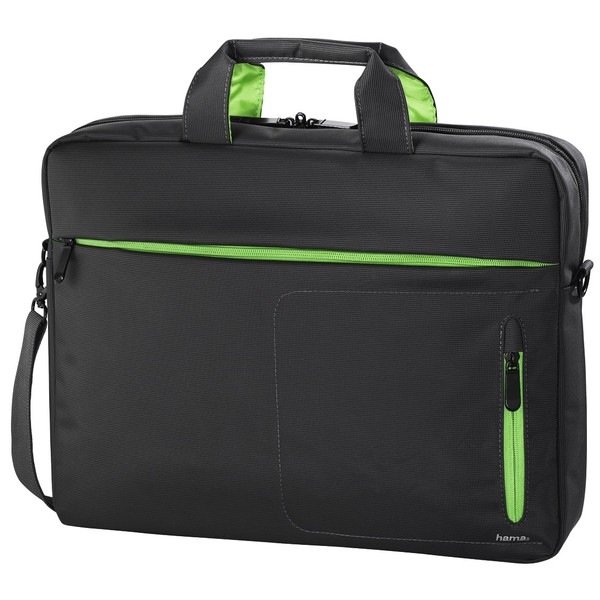 HAMA Marseille Style Notebook Bag displays up to 40 cm 15.6in grey/green