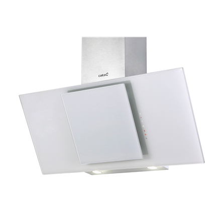 Hood CATA Ceres 900XGWH Wall mounted, Width 90 cm, 560 m³/h, White glass, Energy efficiency class E, 61 dB