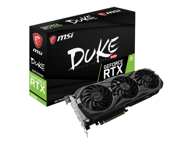 MSI GeForce RTX 2080 DUKE 8G OC, 8GB GDDR6, 3xDP+HDMI+USB-C