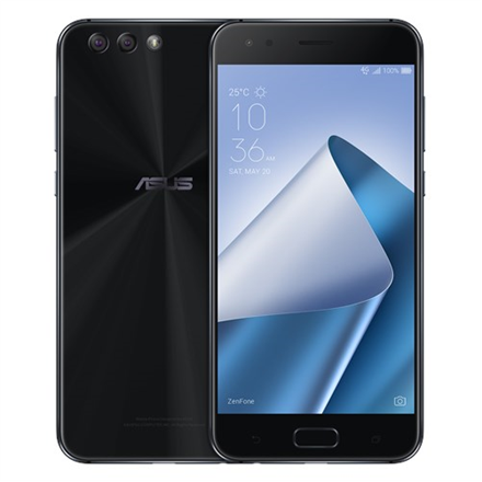 "Asus ZenFone 4 ZE554KL Midnight Black, 5.5 "", IPS+, 1080 x 1920 pixels, Qualcomm Snapdragon 630, SDM630, Internal RAM 4 GB, 64 GB, Dual SIM, Nano-SIM, 3G, 4G, Main camera 12 MP, Secondary camera 8 MP, Android, 7.0, 3300 mAh"