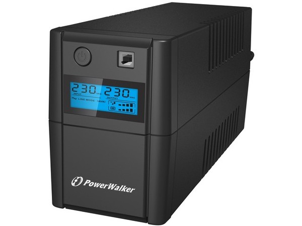 UPS LINE-INTERACTIVE 850VA, 4x IEC, RJ11 IN/OUT, USB, LCD