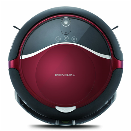 Moneual Vacuum cleaner ME770 Style Warranty 24 month(s), Robot, Black/Red, 0.6 L, A, 55 dB, 12.8 V, 60 min, Cordless