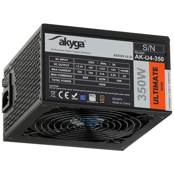 Akyga Ultimate ATX Power Supply 350W AK-U4-350 80+Bronze Fan12cm P8 4xSATA PCI-E