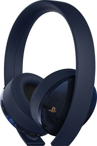 Sony Playstation 4 Gold Wireless Stereo Headset - Dark Blue - Limited Edition