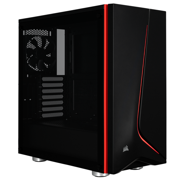 PC korpusas Corsair Carbide Series Spec-06 ATX Mid-Tower, Juodas