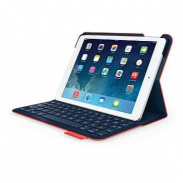 Logitech UltraThin Bluetooth Folio dėklas-klaviatūra (EN/RU), skirta iPad Air/Air 2 (Midnight Navy)