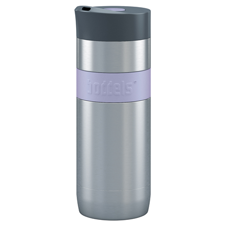 Boddels KOFFJE Travel mug, 370 ml, High-quality stainless steel, Lavender blue Boddels KOFFJE Travel mug Lavender blue, Capacity 0.37 L, Dishwasher proof, Bisphenol A (BPA) free