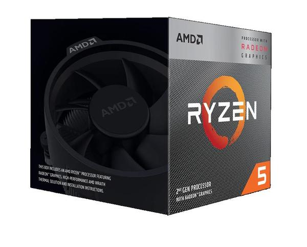 AMD Ryzen 5 3400G, 4C/8T, 4.2 GHz, 6 MB, AM4, 65W, 12nm, BOX