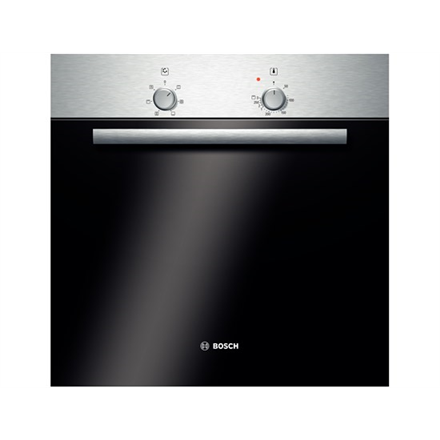 Bosch HBN301E2S Oven 66 L, Black, Stainless steel, Tradicional, Electronic, Height 59.5 cm, Width 59.5 cm