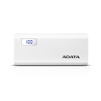 Išorinė baterija ADATA P12500D Power Bank, 12500mAh, Balta