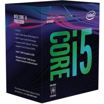 Intel Core i5-8600K, Hexa Core, 3.6-4.3GHz, 9MB, LGA1151, 14nm, BOX (be aušintuvo)