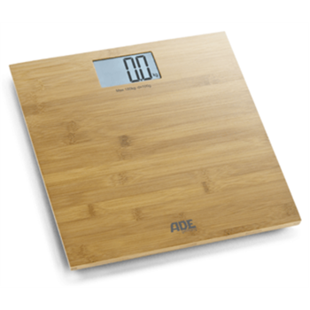 ADE Bathroom Scale BE 925 MARTINA  Maximum weight (capacity) 150 kg, Accuracy 100 g, Multiple user(s), Bamboo wood