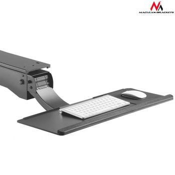 Maclean MC-795 Adjustable sub-keyboard keyboard holder for standing-seated work