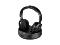 Thomson WHP3001BK UHF Black Wireless Over ear Headphones | PLL system | Range: up to 100m
