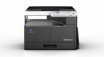 DEMO* Bundle KONICA MINOLTA [nespalvotas skeneris] Bizhub 185 GDI contr. Pap+POWER CABLE 1.8m+Toner kit TN116 (2 bot.)+USB CABLE 3M