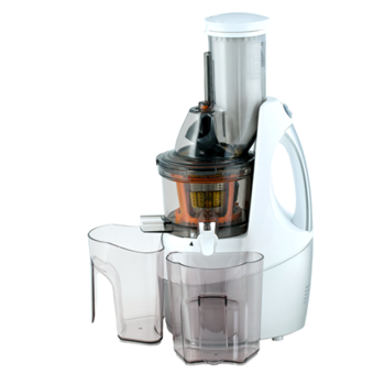 Juicer Happy Juicing HJ-2014C Type Slow juicer, White, Silver, 240 W, Extra large fruit input, Number of speeds 1