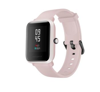Amazfit Bip S Smart watch, Warm Pink, GPS (satellite), AMOLED Display, Touchscreen, Heart rate monitor, Activity monitoring 24/7, Waterproof, Bluetooth