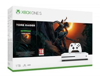 Microsoft XBOX ONE S 1TB žaidimų konsolė su Shadow of the Tomb Raider žaidimu