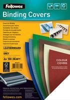 FELLOWES 5370104 Binding cover (leather pattern) DELTA A4. white - FSC. 100 pcs