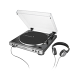 Audio Technica Turntable with Headphones AT-LP60XHPGM Fully Automatic Belt-Drive Stereo Turntable, 1.9 W
