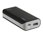 Trust Primo Black Portable charger with USB port and built-in 4400 mAh battery to charge your phone and tablet anywhere - black