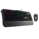 Asus TUF Gaming Combo (K5 RGB EN keyboard with tactile Mech-Brane key switches and spill-resistance, and M5 ambidextrous ergonomic RGB gaming mouse with gaming-grade optical sensor, durable coating and Aura Sync lighting)