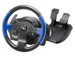 Thrustmaster T150 Force Feedback. Device type: Wheel + Pedals, Gaming platforms supported: PC, PlayStation 4, Playstation 3. Color of product: Black, Blue