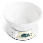 ORAVA Kitchen Scale EV-2 Maximum weight (capacity) 5 kg, Graduation 1 g, Display type LCD, White