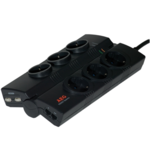 AEG Protect Business, 6 outlets/  2-Port USB Charger/ Protection for Network Cables/ Foldable Mechanism for Conference Tables