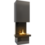 Tenderflame Fireplace Jazz 180 Diameter 68 cm, Height 180 cm, 1050 ml, Burning time about 3.5 hours, Dark grey