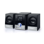 Muse Micro System CD/MP3/USB with Bluetooth M-38BT Black/Silver, AUX in, Alarm function