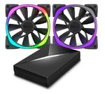NZXT 2x Advanced RGB LED PWM 120mm Fan with HUE+ Controller (no LED strips)