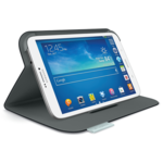 Logitech Folio Protective Case S38 for Samsung Galaxy Tab 3 8.0 Grey/ Made from durable, water-repellant materials