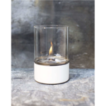 Tenderflame Table burner Tower FlatWick metal Diameter 10 cm, 15 cm, 300 ml, 7 hours, White