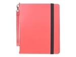 LUXA2 PA4 leather stand case pink array in 4 adjustable and 45 degree Angles 100 percent calf skin handmade for Apple iPad