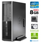 HP 8300 Elite SFF i5-3470 8GB 120SSD+500GB GT1030 2GB DVDRW WIN10Pro RENEW