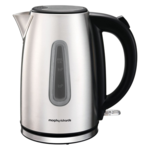 Morphy richards Kettle 102777 Standard kettle, Stainless steel, Stainless steel/Black, 2200 W, 360° rotational base, 1.7 L