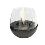 Tenderflame Table burner Tulip 3W Porcelain Diameter 18 cm, Height 16 cm, 300 ml, 5 hours, Black
