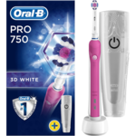 Oral-B Toothbrush with Travel case PRO 750  For adults, Rechargeable, Operating time 1 charge/1 week of regular cleaning (2 times a day for 2 min) min, Teeth brushing modes 1, Number of brush heads included 1, Pink/White