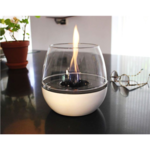 Tenderflame Table burner Tulip 3W Porcelain Diameter 18 cm, Height 16 cm, 300 ml, 5 hours, White