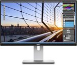 DELL UltraSharp U2417HWi bevielis LED monitorius su IPS technologija | 23.8 colių | FULL HD (1920x1080) | Kontrastas: 2 000 000:1 | Reakcijos laikas: 8ms | Peržiūros kampas: 178°/178° | Jungtys: Dual Screencast with WiFi Direct, HDMI, 3.5mm audio jack, USB | Tilt, Height-adjustable, Swivel, Pivot, VESA