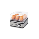 Caso Egg cooker E9  Stainless steel, 400 W, Functions 13 cooking levels,