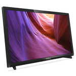 "Philips 4000 series Slim LED TV 24PHT4000 61 cm (24"") LED TV DVB-T/T2/C with Digital Crystal Clear"