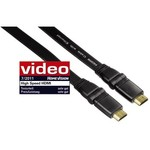 Hama High Speed HDMI™ Cable, plug - plug, rotation, flat, Ethernet, 1.5 m
