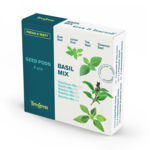 Tregren Fresh&Tasty Basil Mix, 4 seed pods: bush basil, lemon basil, thai basil,cinnamon basil, SEEDPOD88