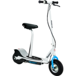 Razor E300s Electric Scooter with Seat - White/Blue
